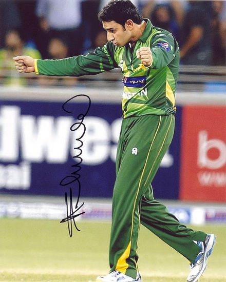Saeed Ajmal, Pakistan, signed 10x8 inch photo.